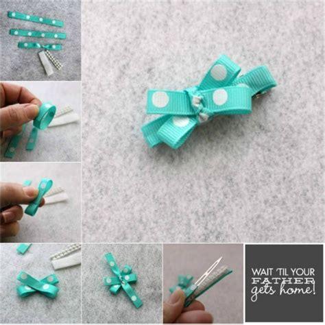 How To Make Handmade Hair - mini hair bow tutorial wait til your gets home