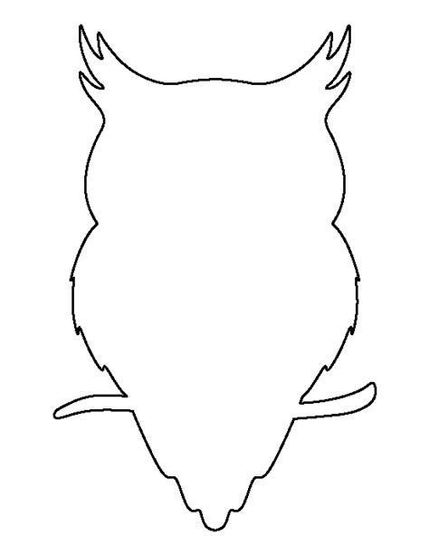 template of owl owl pattern use the printable outline for crafts creating stencils scrapbooking and more