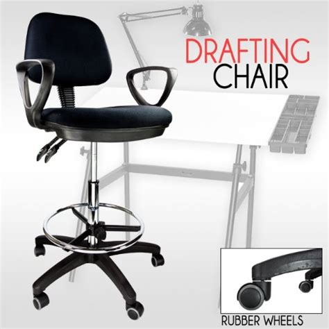 drafting chair with armrest drafting chair stool armrest ergonomic black adjustable