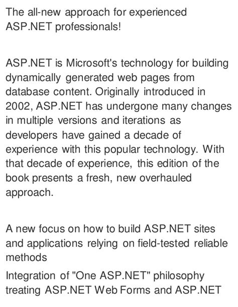 Professional Asp Net 4 In C And Vb professional asp net 4 5 in c and vb 1st edition ebook