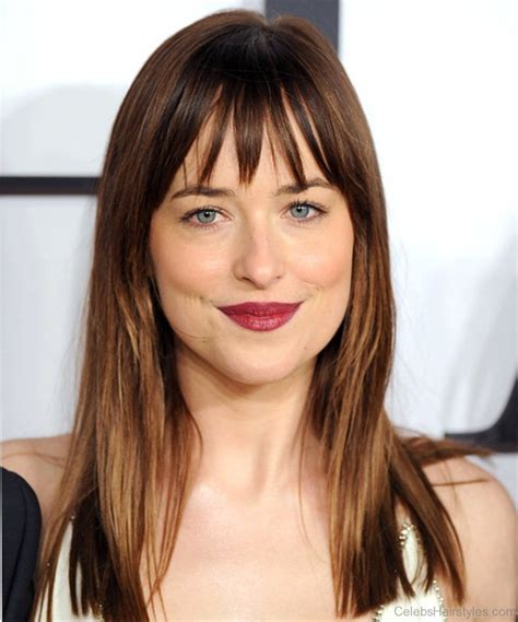 dakota johnson bangs 40 classic hairstyles of dakota johnson