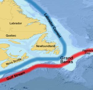 bank fishing map grand banks of newfoundland