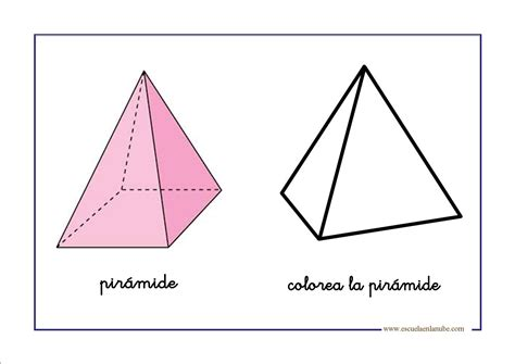 imagenes de pirmides geometricas piramides geometricas para colorear imagui