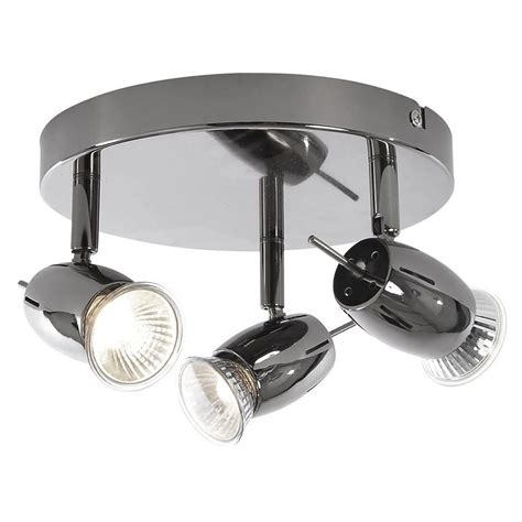 Black Nickel Ceiling Lights Frank 3 Light Ceiling Spotlight Plate Black Nickel From