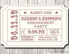 ticket stub invitation template vintage ticket invitation template ideas
