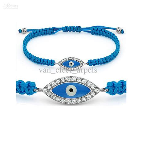 evil eye turkish nazar hamsa charm silver cz