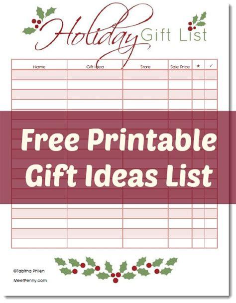 printable christmas shopping list printable gifts planner meet penny