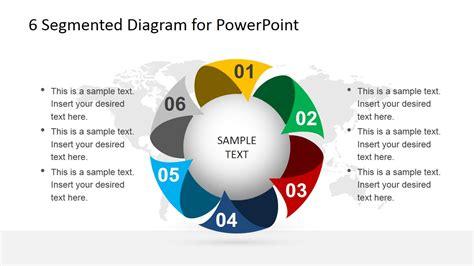 6 steps circular segmented diagram for powerpoint slidemodel 6 steps circular segmented diagram for powerpoint slidemodel