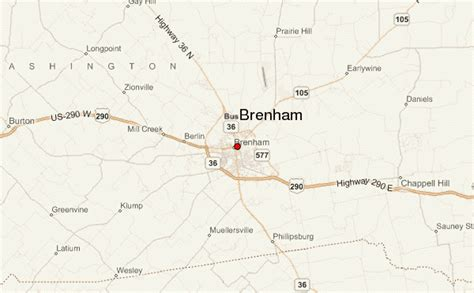brenham texas map brenham location guide