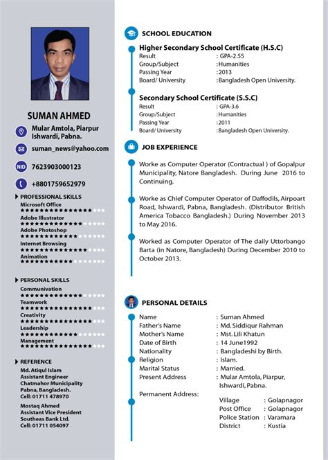 professional resume  cv design  jibon