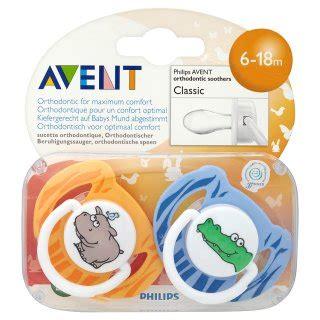 Philips Avent Orthodontic Soothers 6 18m philips avent orthodontic soothers classic 6 18m