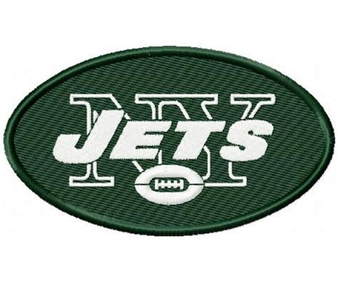 embroidery design ny new york jets logo machine embroidery design for instant