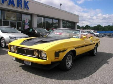 1973 ford mustang convertible data, info and specs
