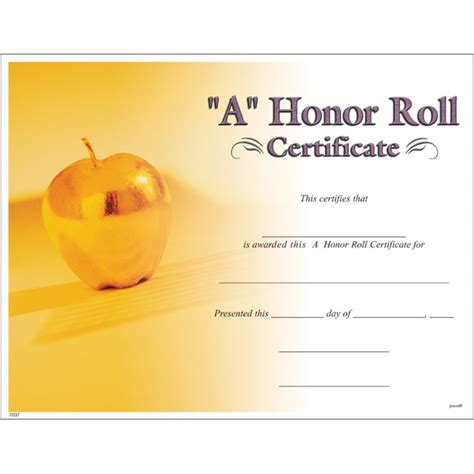 a honor roll certificate jones school supply