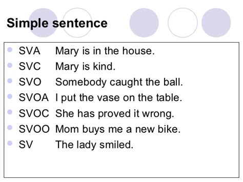 sentence pattern for svoc week 12 sentence types