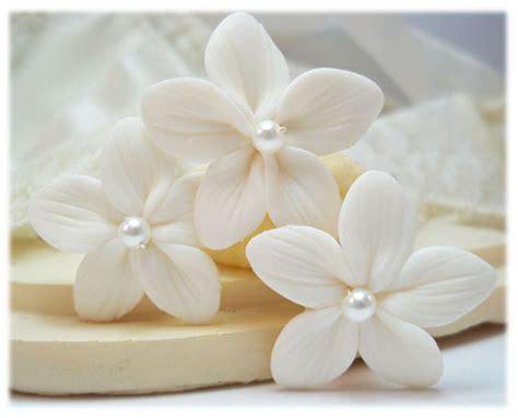 Flower Hair Pin stephanotis pearl hair pins white stephanotis hair