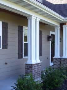 columns for homes columns exterior custom homes by tompkins construction