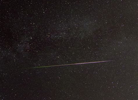 Meteor Shower Tracker by Exploding Perseid Meteor Bolide Fireball Ionisation Trail
