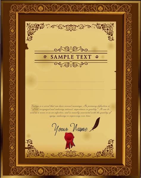 design certificate template ai certificate template ai eps choice image certificate