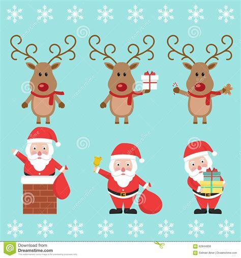 imagenes animadas de navidad para bb santa claus and christmas reindeer funny cartoon