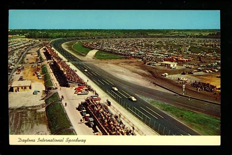 racing tracks in florida car auto racing postcard daytona 500 speedway florida fl race track curt teich ebay