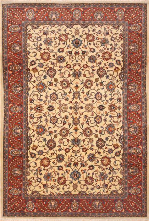 3d Area Rugs Saroogh Beige Rectangle 7x10 Ft Wool Carpet 12134