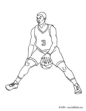 printable coloring pages basketball player basketball player dribbling coloring pages hellokids com