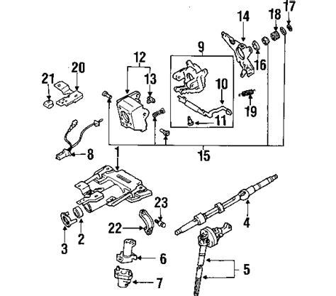 toyota tundra parts diagram parts 174 toyota tundra steering column assembly oem parts