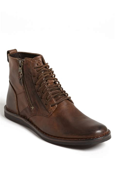 varvatos boots varvatos barrett plain toe boot in brown for
