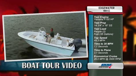 edgewater boats youtube edgewater power boats 188cc review youtube