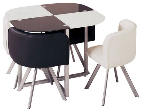 acrylic dining room set d536dt compact white black acrylic with leatherette five