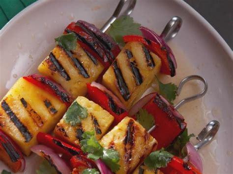 vegetables kabobs grilled fruit and vegetable kabobs recipe nancy fuller