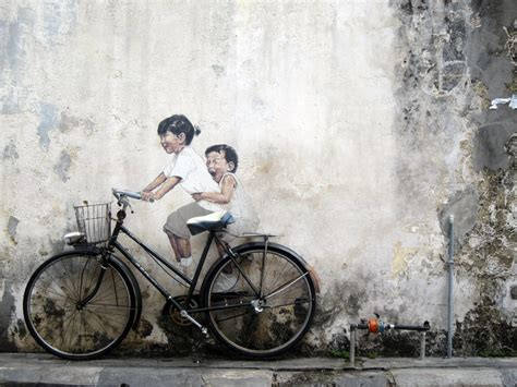 Banksy Wall Murals where to find the street art in georgetown penang map