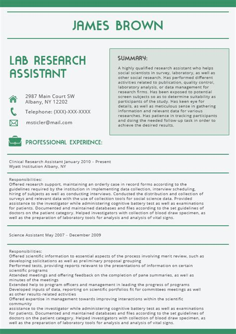 Cover Letter Research Lab best cover letter 2016 green resume format lab