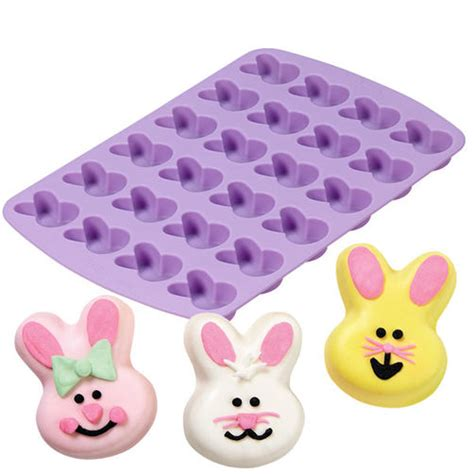 lusty bunny silicone size l 24 cavity bunny silicone mold wilton