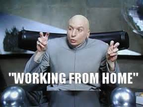 airline work from home dr evil working from home air quotes meme tracey