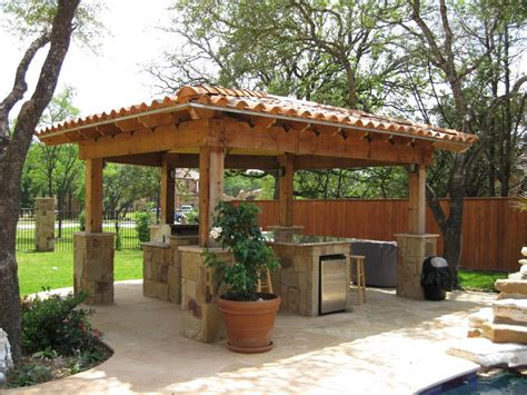 backyard cabana ideas outdoor kitchens cabanas and fire features cascade