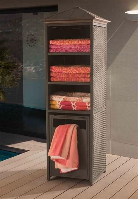 outdoor pool towel storage cabinet the donnelly towel valet and storage cabinet provides