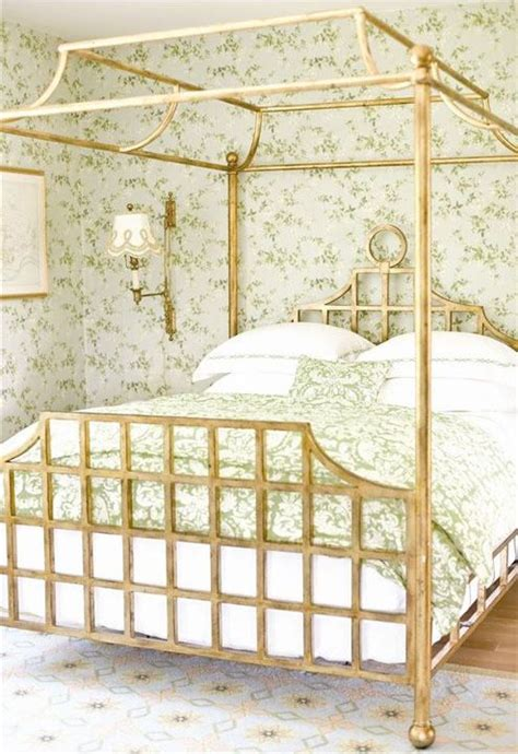 Gold Frame Bed A Colourful Green Part 2