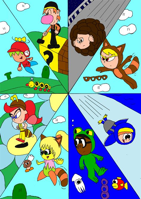 all 8 with mario power ups by tman5636 on deviantart