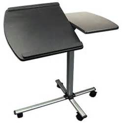 Portable Laptop Desk Split Top Laptop Caddy Portable Adjustable Rolling Computer Desk Black Silver