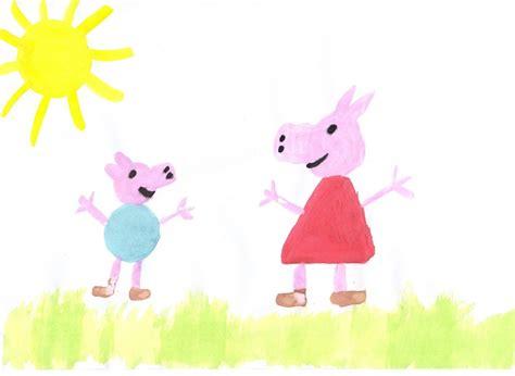 Peppa Pig Painting By Purpletartan On Deviantart