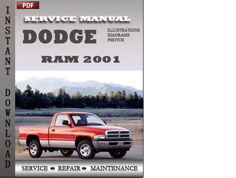 2001 dodge ram factory service repair manual download manuals am service manual auto repair manual free download 2001 dodge ram van 1500 head up display