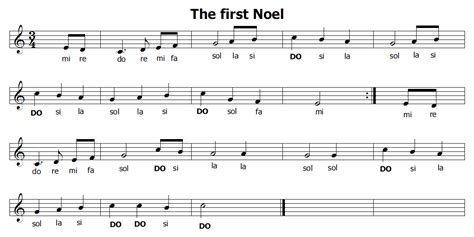noel noel testo musica e spartiti gratis per flauto dolce natale the