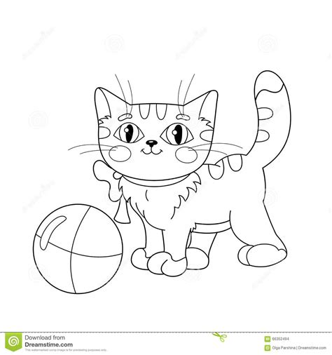 fluffy kitten coloring page free printable cat coloring pages 003 kitten yarn