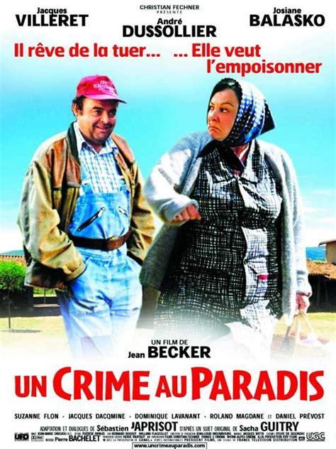 josiane balasko villeret film affiche du film un crime au paradis affiche 1 sur 1