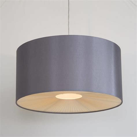 light gray shades large ribbon easy to fit ceiling shade drum grey from