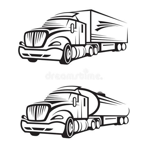 clipart in movimento camion e autocisterna illustrazione vettoriale