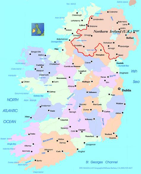 map of ireland with major cities uriback3 4 bc12 13