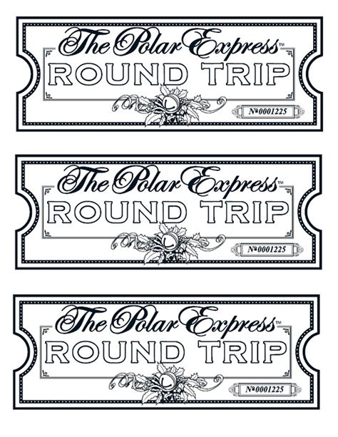 Polar Express Golden Ticket Template by My Take On The Polar Express Tickets We Printed Them On